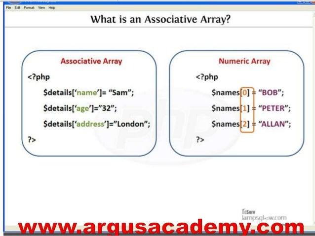 php associative array