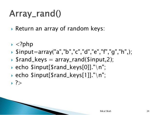 php random array