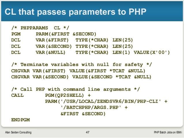 PHP Batch Jobs on IBM i