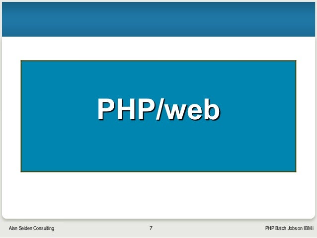 PHP Batch Jobs on IBM i