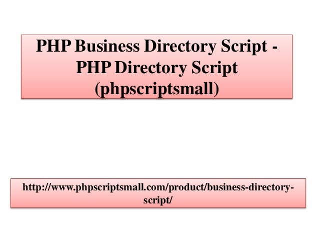 PHP Business Directory Script - PHP Directory Script (phpscriptsmall)