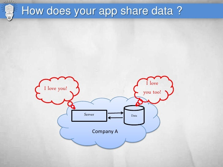 How does your app share data ?                                               I love     I love you!                       ...