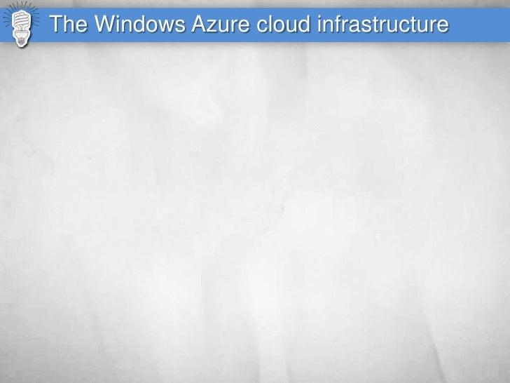 The Windows Azure cloud infrastructure
