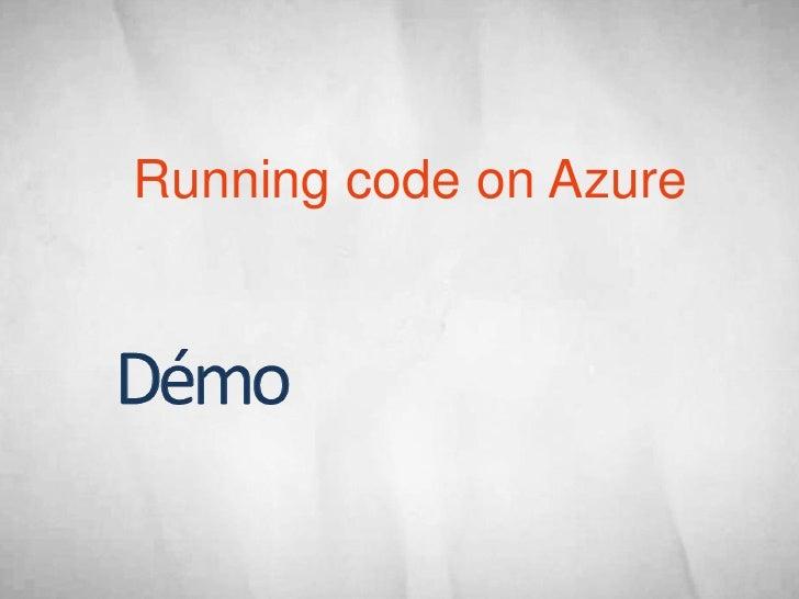 Running code on Azure