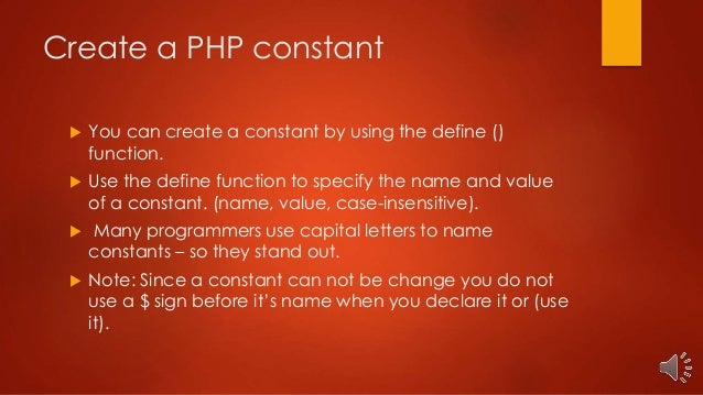 Php constants class 336