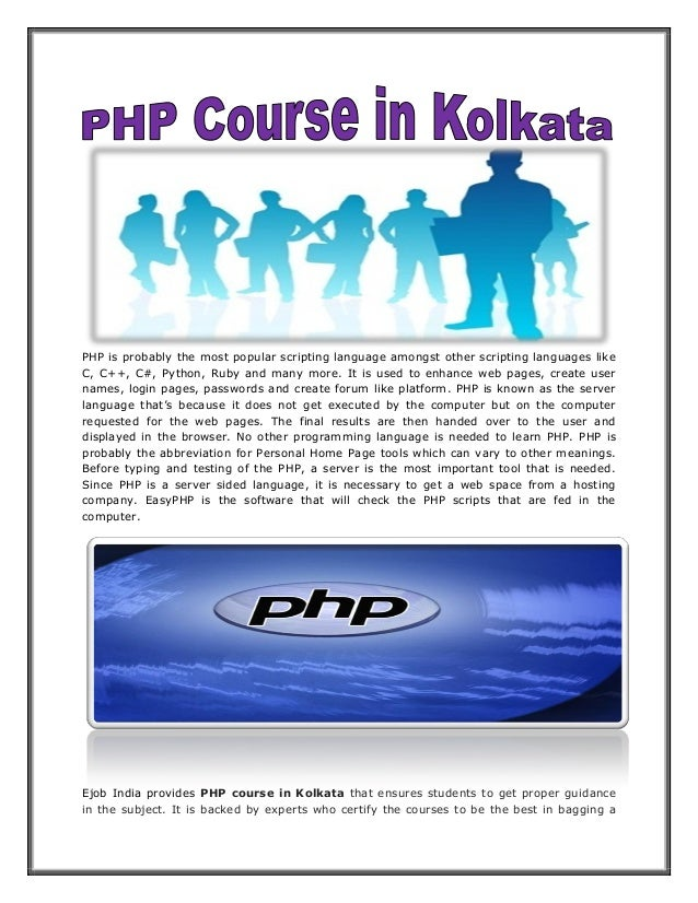 PHP is probably the most popular scripting language amongst other scripting languages like C, C++, C#, Python, Ruby and ma...
