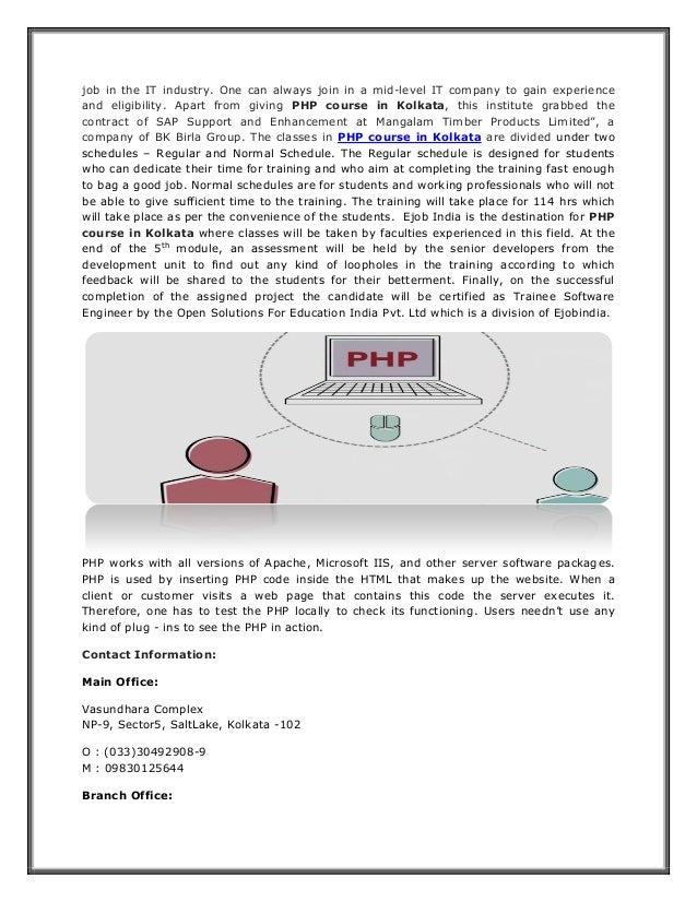 PHP Course in Kolkata Slide 2