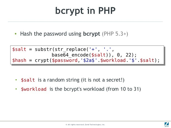 php crypt