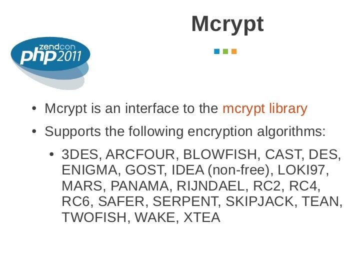 Cryptography in PHP: use cases