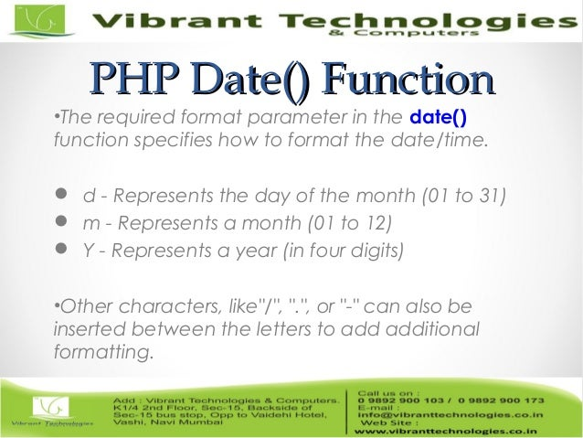 date functions in php