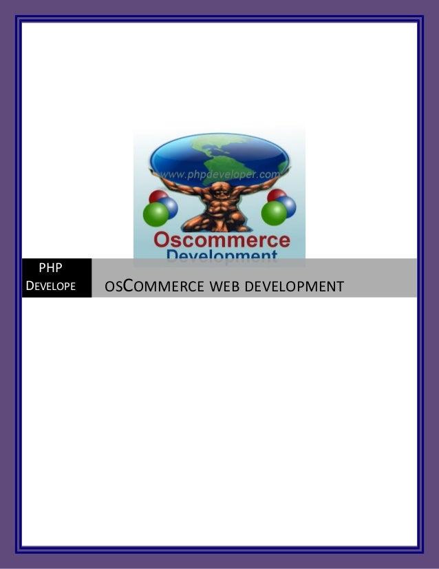PHPDEVELOPE   OSCOMMERCE WEB DEVELOPMENT   R