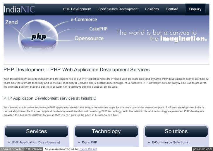 PHPDevelopment                    OpenSourceDevelopment     Solutions       Portfolio         Enquiry PHPDevelopment–...