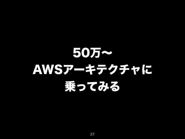 50万~  AWSアーキテクチャに  乗ってみる  27