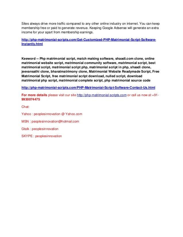 Free online matrimonial match making