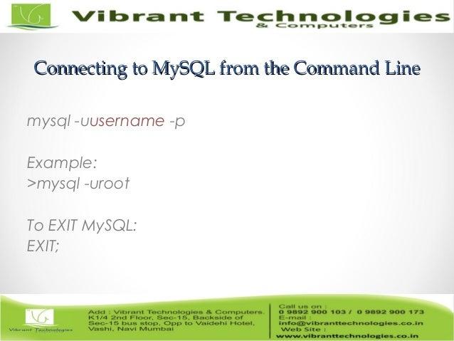 ... MySQL: EXIT;; 15.