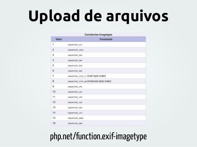 php.net/function.exif-imagetype Upload de arquivos
