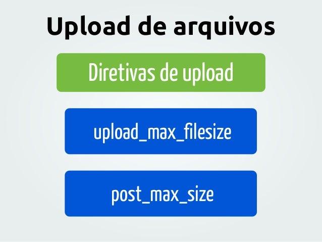 Diretivas de upload upload_max_filesize post_max_size Upload de arquivos