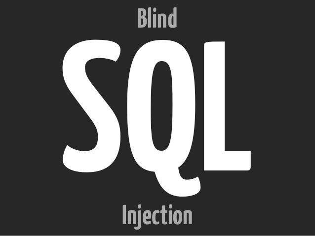 SQLInjection Blind