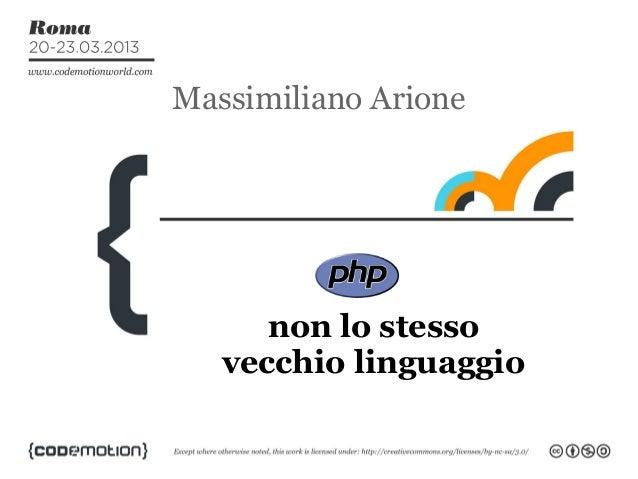 Massimiliano Arione      non lo stesso   vecchio linguaggio