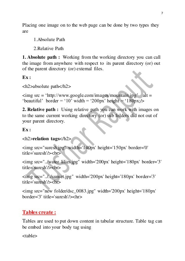 PHP HTML CSS Notes