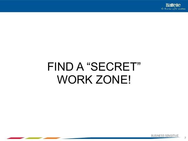 "BUSINESS SENSITIVE7FIND A ""SECRET""WORK ZONE!"