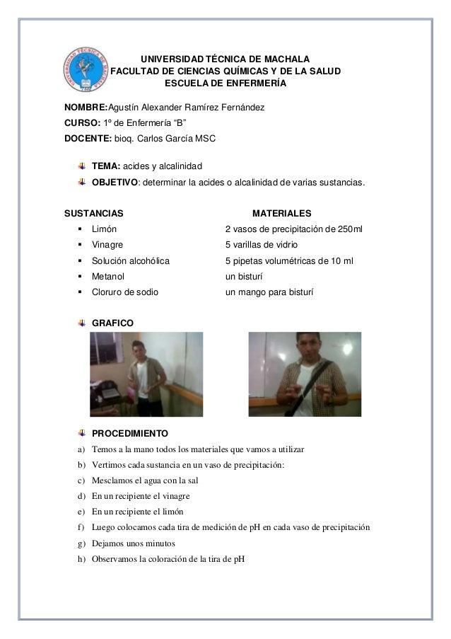 UNIVERSIDAD TÉCNICA DE MACHALA FACULTAD DE CIENCIAS QUÍMICAS Y DE LA SALUD ESCUELA DE ENFERMERÍA NOMBRE:Agustín Alexander ...