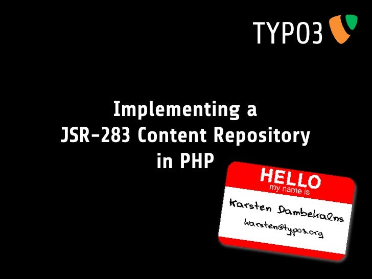 Implementing a JSR-283 Content Repository           in PHP