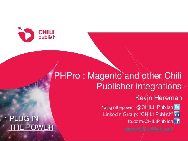 "PLUG IN THE POWER #pluginthepower @CHILI_Publish Linkedin Group: ""CHILI Publish"" fb.com/CHILIPublish www.chili-publish.com..."
