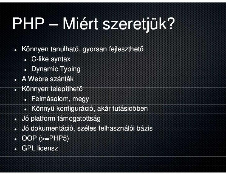 Webműves Kelemen tanácsai, avagy mi kell a PHP falába? Slide 3