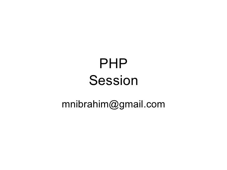 PHP Session [email_address]