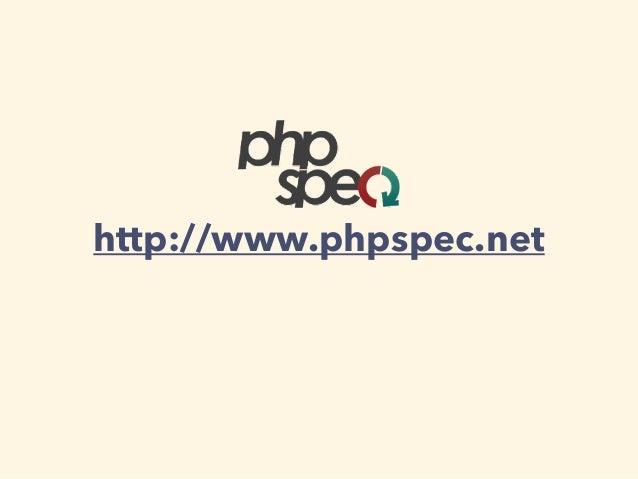 http://www.phpspec.net