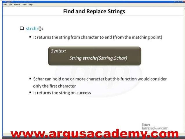 php find string in string