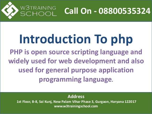 Best Php training institute in gurgaon for Professionals  Slide 2
