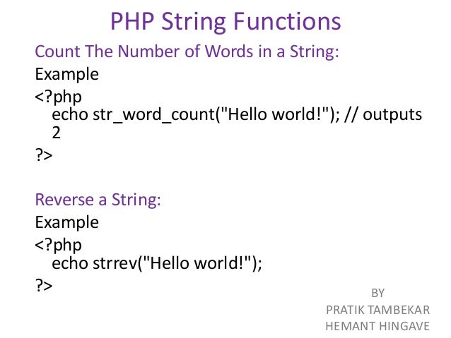php count string