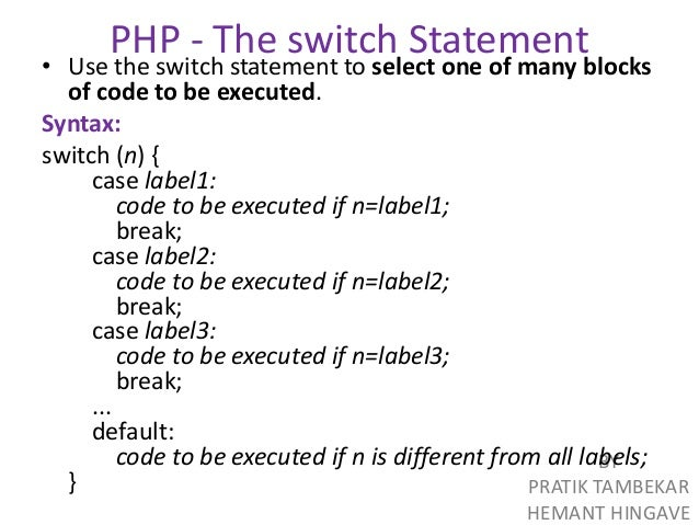 select case php