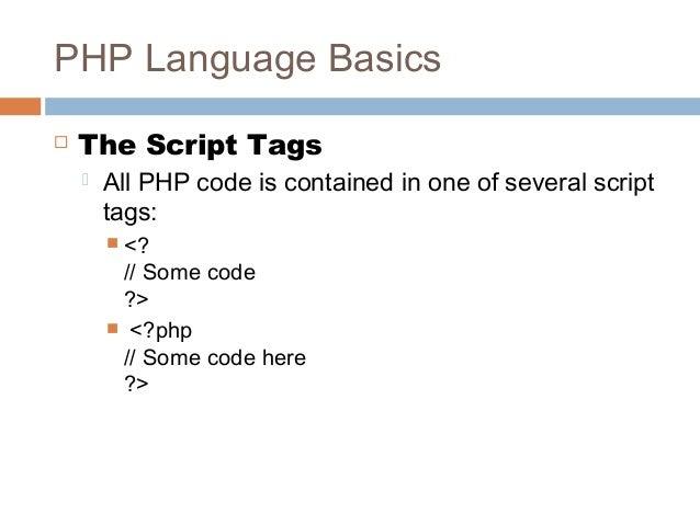 php language tutorial