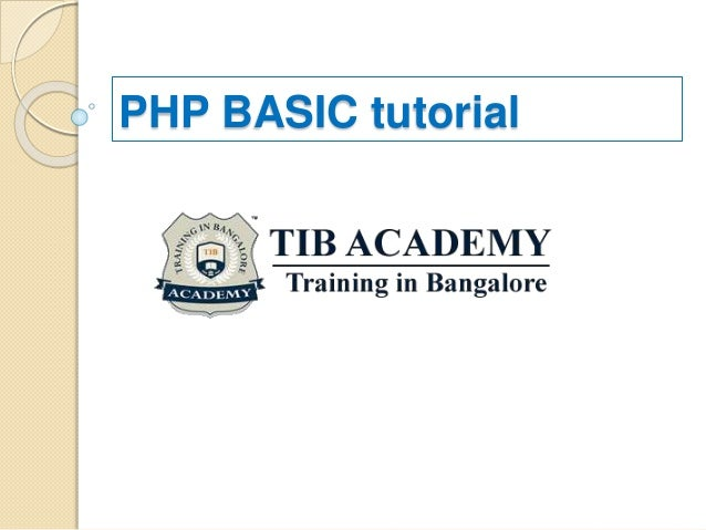 Basic Php Tutorial Pdf