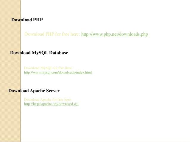 Tutorial free pdf mysql php