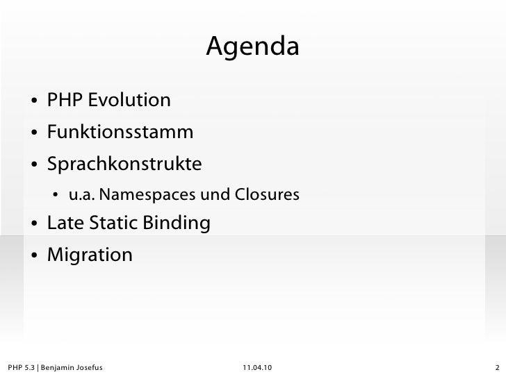 PHP 5.3 - da war doch was? Slide 2