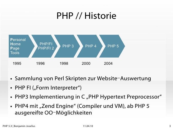 PHP 5.3 - da war doch was? Slide 3