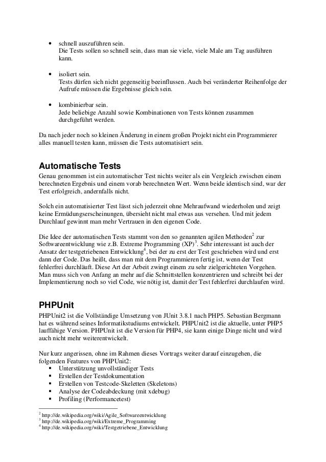 PHPUnit - Eine kurze Einführung Slide 2