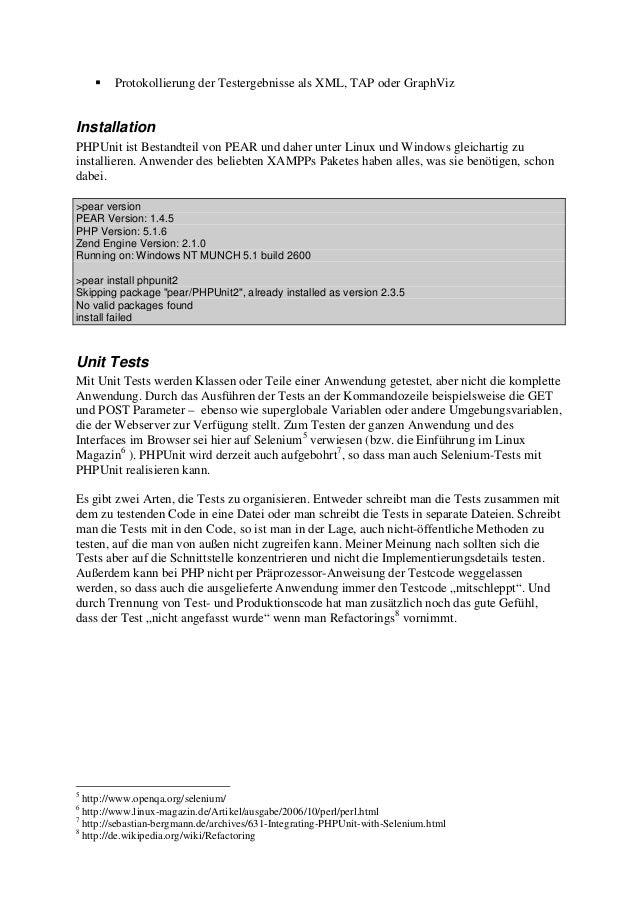 PHPUnit - Eine kurze Einführung Slide 3