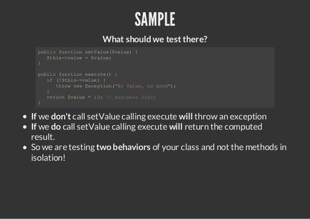 SAMPLE                   What should we test there? pbi fnto stau(vle {  ulc ucin eVle$au)   $hs>au =$au;   ti-vle   vle }...