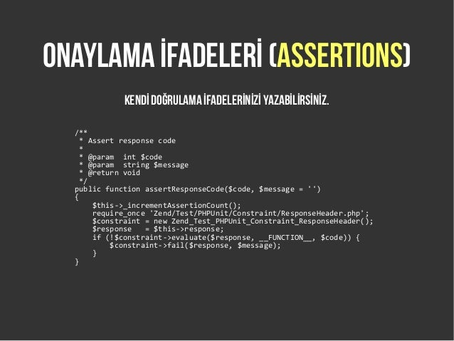 phpunit writing custom assertions