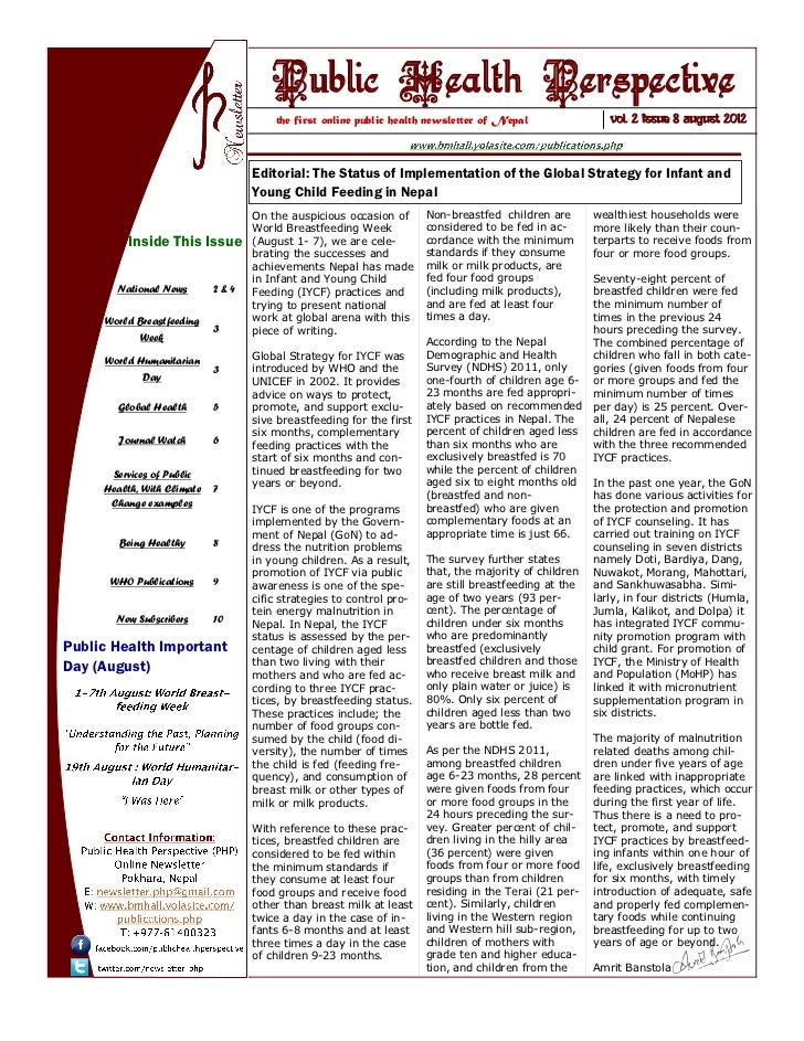 Public Health Perspective                                      the first online public health newsletter of Nepal         ...