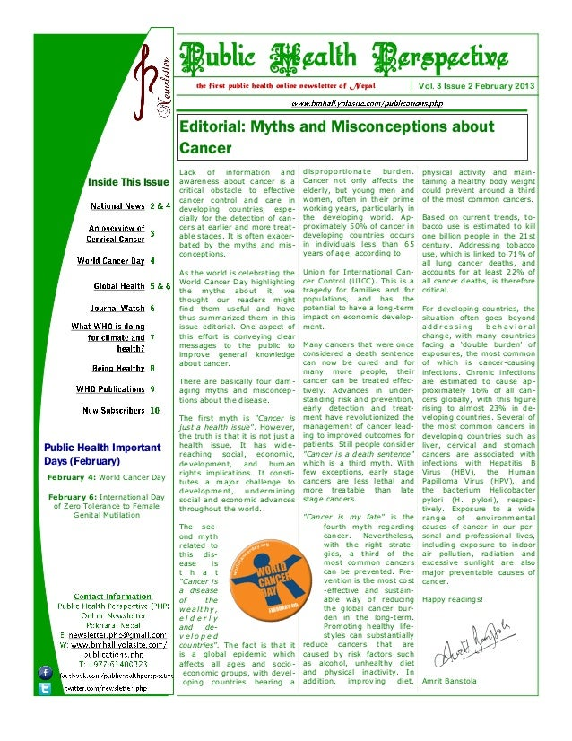 Public Health Perspective                                    the first public health online newsletter of Nepal           ...