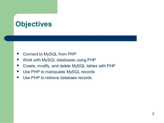how to open a mysql database in php