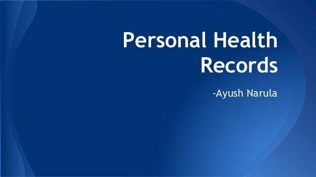 Patient Health Record Login