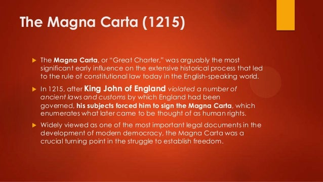 magna carta v bill of rights In semayne's case in 1604, the magna carta was interpreted to  1791 the  united states adopts the bill of rights, which includes the fourth amendment to .