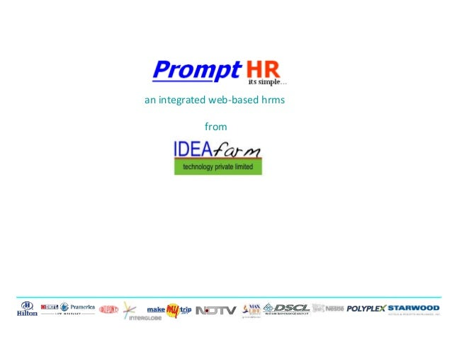 an integrated web-based hrms from